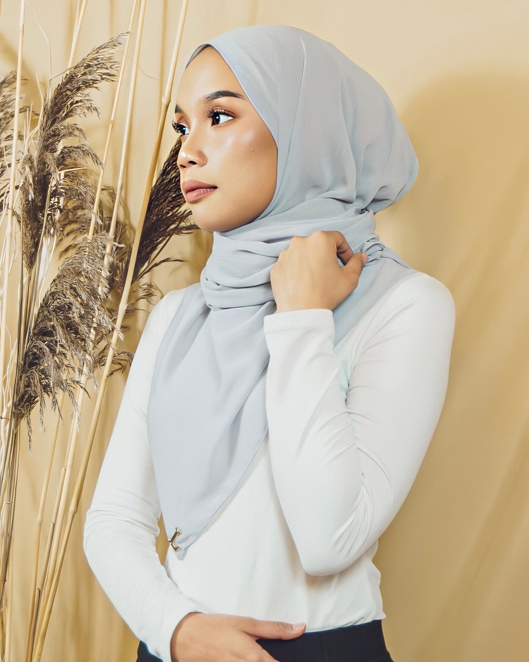 Selma Luxe Chiffon in Gray - Defect