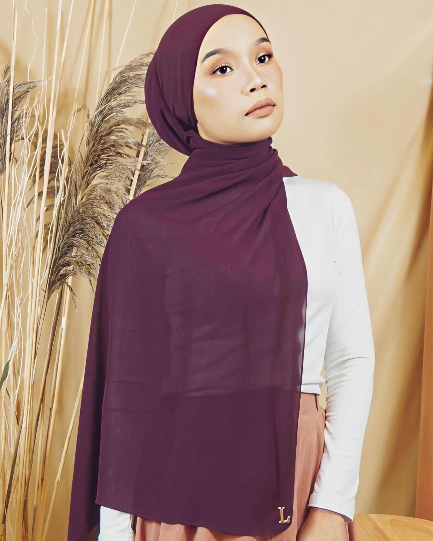 Selma Luxe Chiffon in Plum - Defect