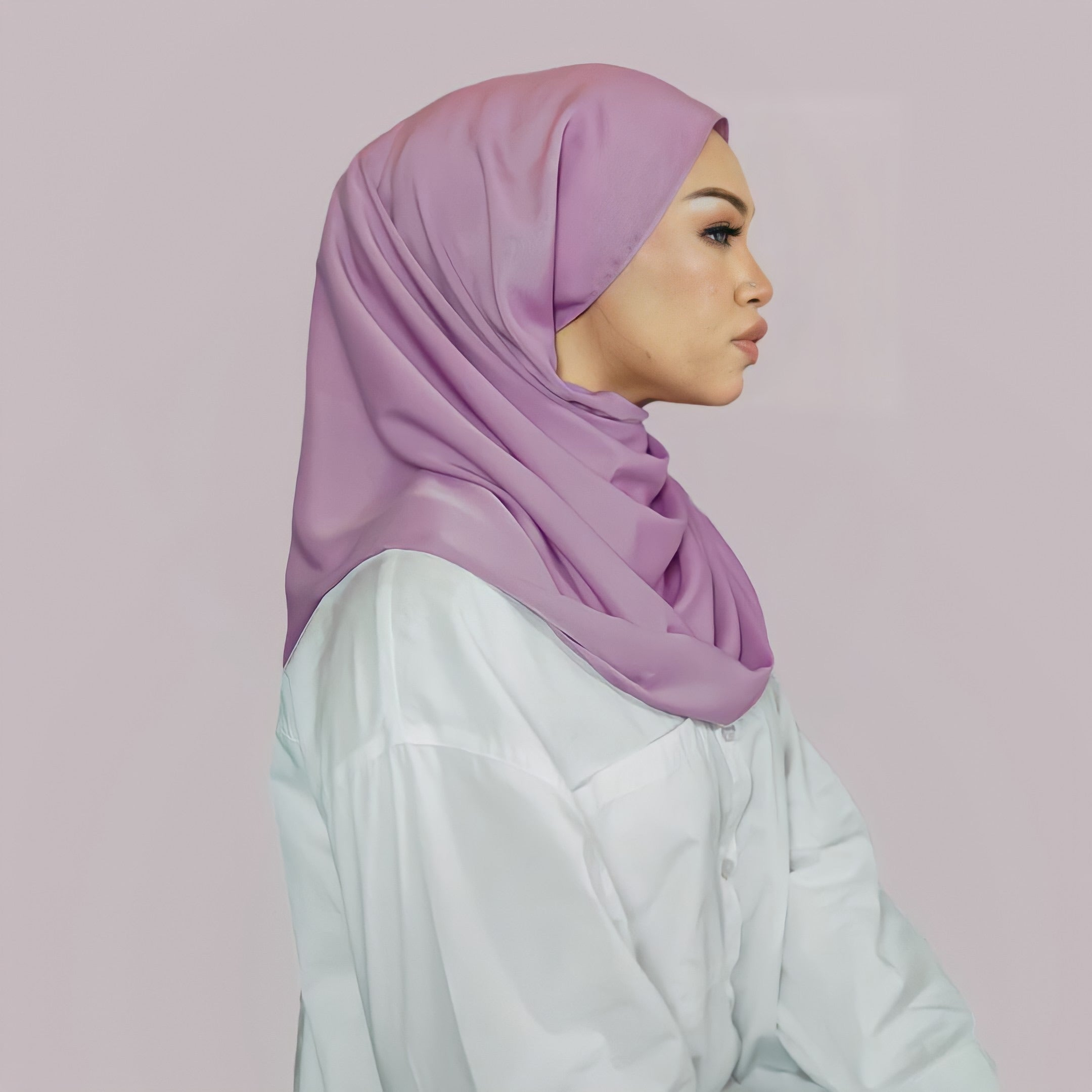 Naima Luxe Shawl in Pastel Lavender