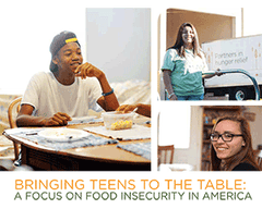 Young people helping to fight hunger