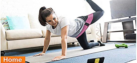 Women working out with exercise resistance band