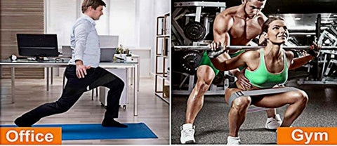Man & woman working out with exercise resistance band
