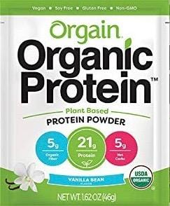 Orgain Organic Protein Powder - Single Use Packets - Vanilla