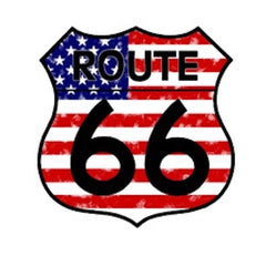 Route 66  USA Flag T-Shirt