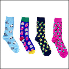 Pushone 4 Fun Colorful Socks In A Box
