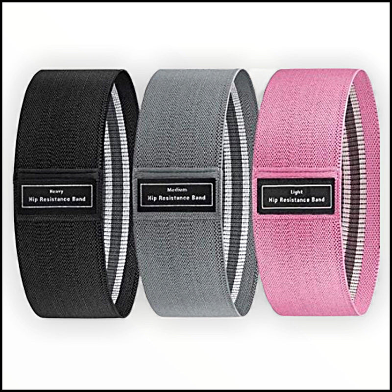 Black, Grey and Pink Resistance Bands