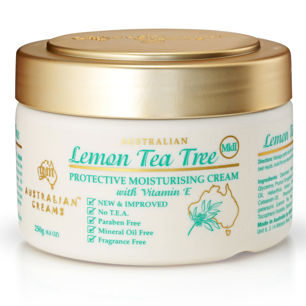 Lemon Tea Tree Oil Cream (moisturizes, softens, and smoothens skin)