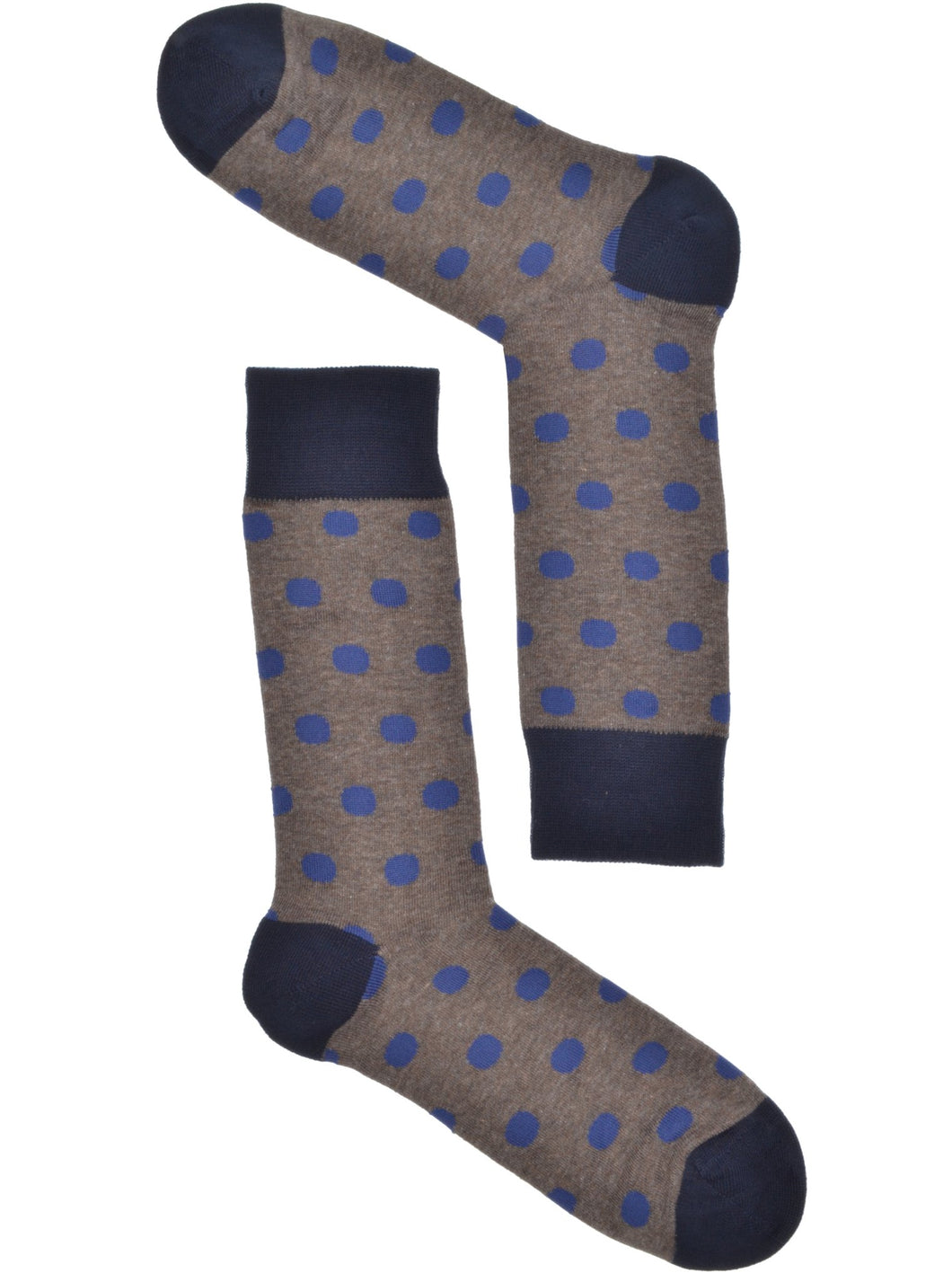 Tan & Blue Polkadot Socks