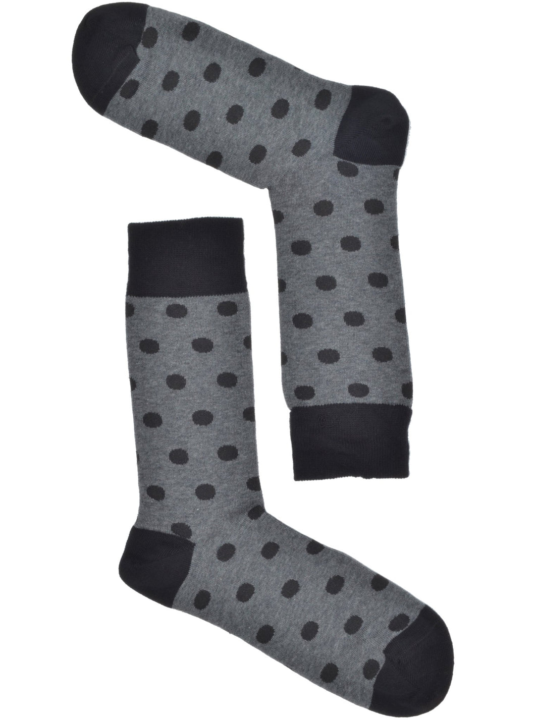 Grey & Black Polkadot Socks