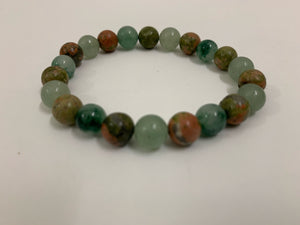 Green Aventurine with Unakite Bracelet