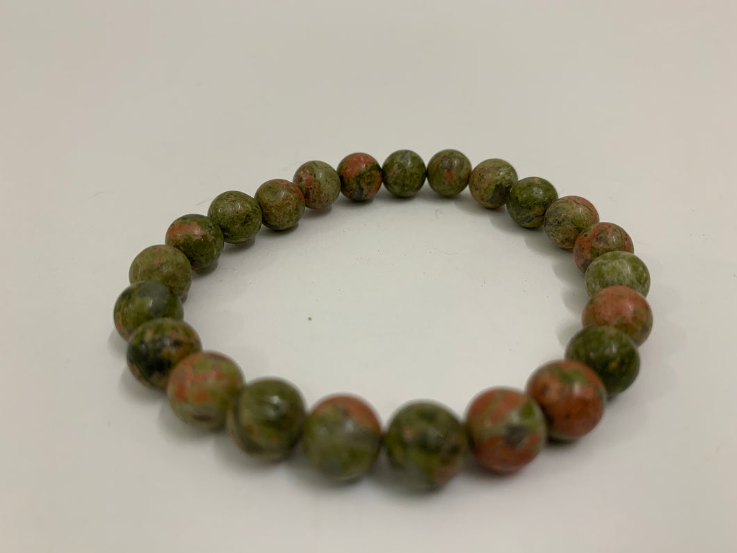 Green with Copper Swirled Bracelet