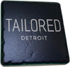 Black Tailored Detroit 2 Coaster