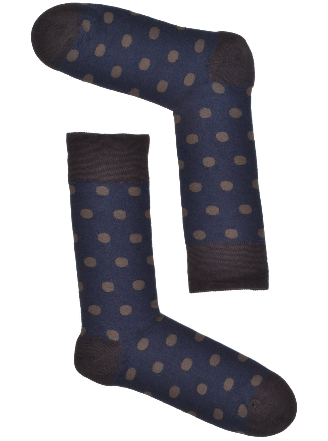 Navy & Tan Polkadot Socks