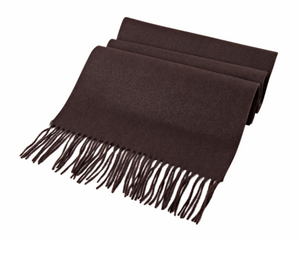 Brown Wool Scarf