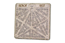 Load image into Gallery viewer, Vintage 1807 Detroit Map Coaster