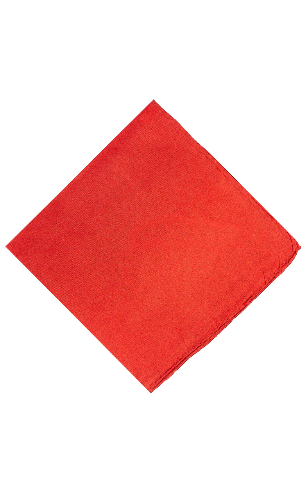 Bright Red Pocket Sq.