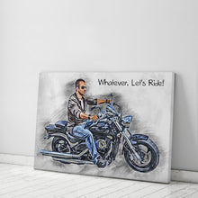 Load image into Gallery viewer, Custom Biker Canvas