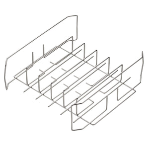 "Best Rib and Wing Rack for 18"" Grills or Larger - Ribs on 1 Side, Turn Over & Cook 36 Wings or 10 Legs, Multi-Purpose Rack"