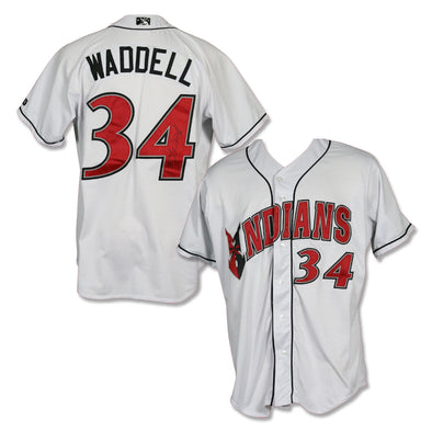 Indianapolis Indians #34 Brandon Waddell Autographed Game Worn Home Jersey