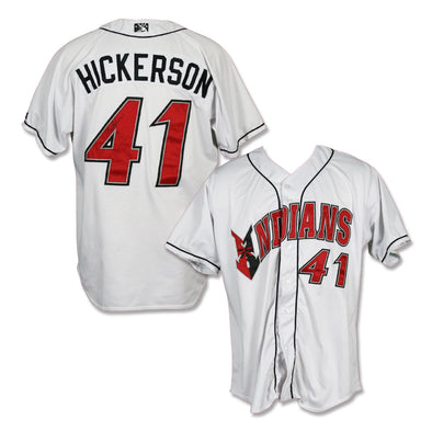Indianapolis Indians #41 Bryan Hickerson Autographed Game Worn Home Jersey
