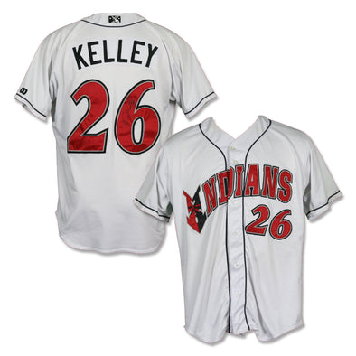 Indianapolis Indians #26 Christian Kelley Autographed Game Worn Home Jersey