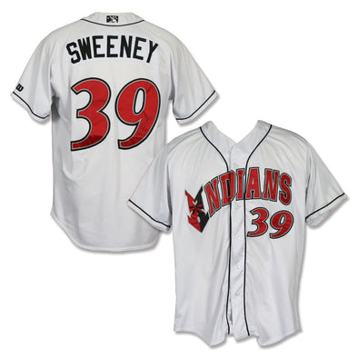 Indianapolis Indians #39 Darnell Sweeney Autographed Game Worn Home Jersey