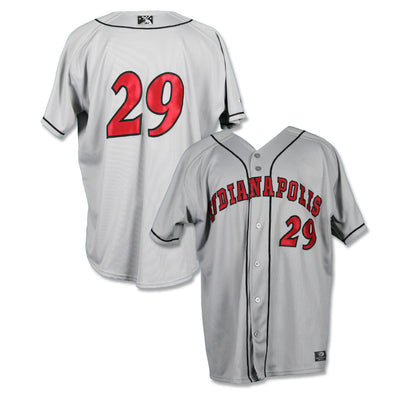 Indianapolis Indians #29 Ryan Long Game Worn Road Jersey