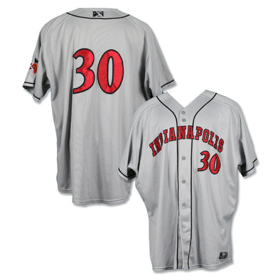 Indianapolis Indians #30 Game Worn Road Jersey