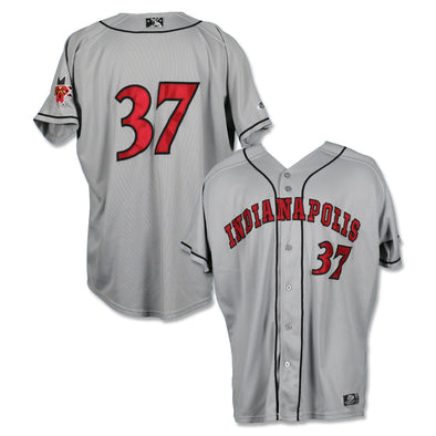 Indianapolis Indians #37 Yacksel Rios Game Worn Road Jersey