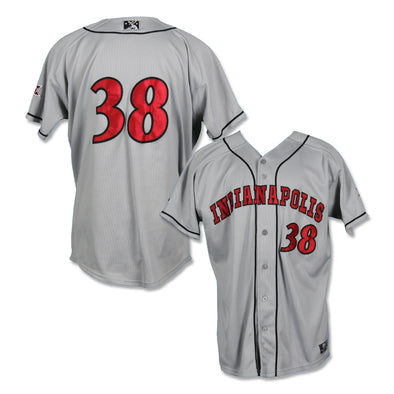 Indianapolis Indians #38 Blake Weimann Game Worn Road Jersey