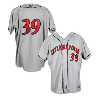 Indianapolis Indians #39 Darnell Sweeney Game Worn Road Jersey