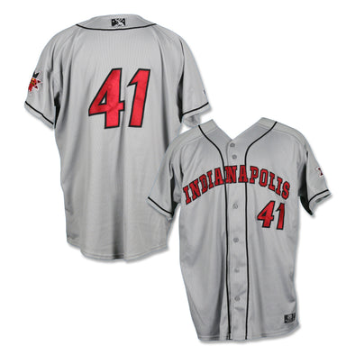 Indianapolis Indians #41 Bryan Hickerson Game Worn Road Jersey
