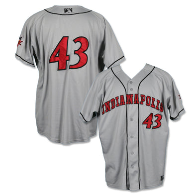 Indianapolis Indians #43 Alex McRae Game Worn Road Jersey