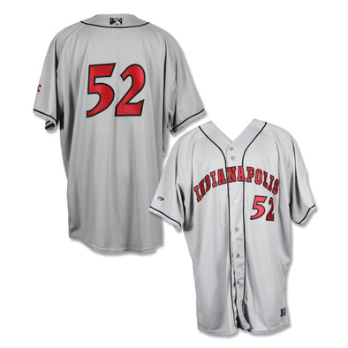 Indianapolis Indians #52 Game Worn Road Jersey