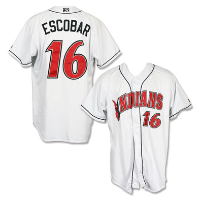 Indianapolis Indians #16 Luis Escobar Autographed Game Worn Home Jersey