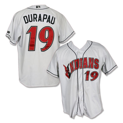 Indianapolis Indians #19 Montana Durapau Game Worn Home Jersey