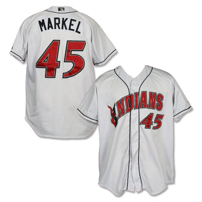 Indianapolis Indians #45 Parker Markel Game Worn Home Jersey