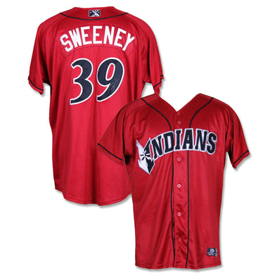 Indianapolis Indians #39 Darnell Sweeney Autographed Game Worn Red Alternate Jersey