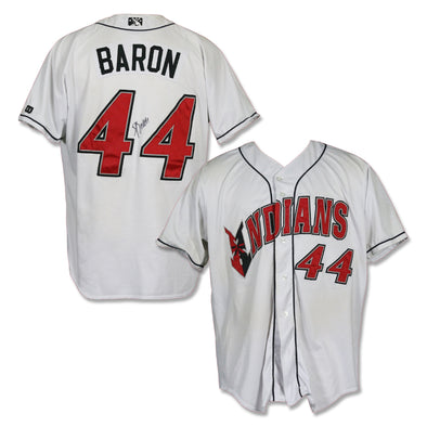 Indianapolis Indians #44 Steve Baron Autographed Game Worn Home Jersey