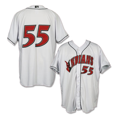 Indianapolis Indians #55 Game Worn Home Jersey