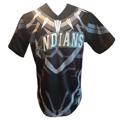 Indianapolis Indians Adult Black Panther Jersey