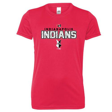 Indianapolis Indians Youth Red Shiner Performance Tee