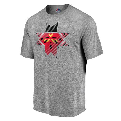Indianapolis Indians Majestic Grey Slash and Dash Tee