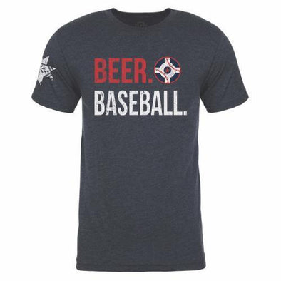 Indianapolis Indians Circle City Indians Navy Beer Tee