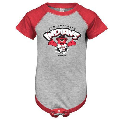Indianapolis Indians Infant Grey/Red Replicate Bodysuit