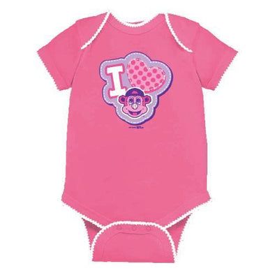 Indianapolis Indians Infant Raspberry Hearthrob Bodysuit