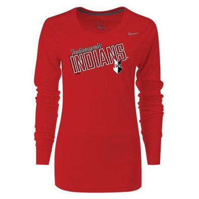 Indianapolis Indians Red General Nike Dri-FIT Longsleeve Tee