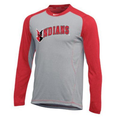 Indianapolis Indians Red/Grey Longsleeve Nike Game Top