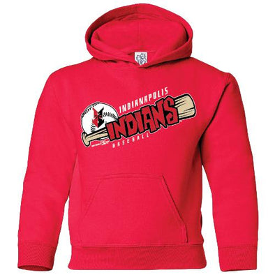 Indianapolis Indians Toddler Red Perforate Hoodie