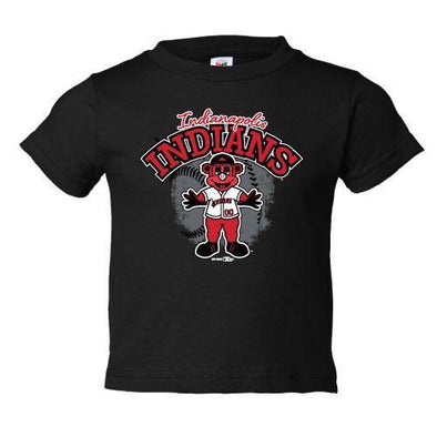 Indianapolis Indians Toddler Black Gride Tee
